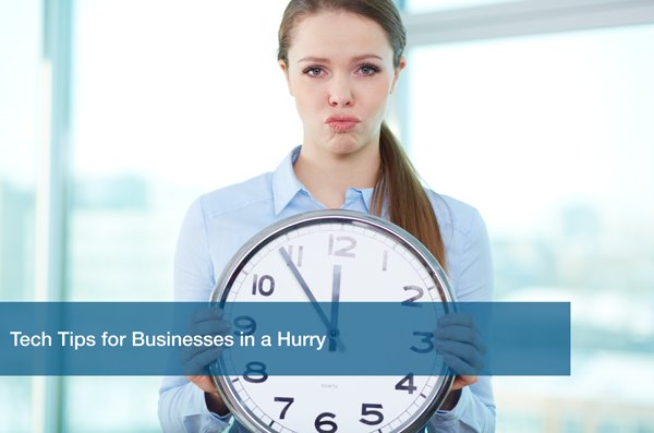 Business woman is concerned about time