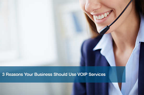 A woman uses VOIP Services